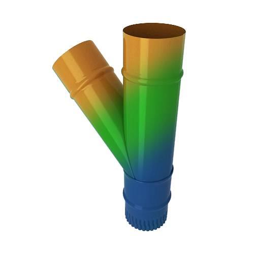 Тройник водосточный с окраской во все цвета RAL