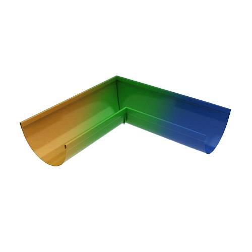 Угол желоба оцинкованный 90 с окраской во все цвета RAL